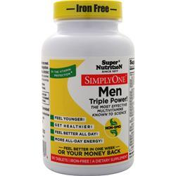 Super Nutrition Simply One Men - One-Per-Day (Iron Free) 90 tabs
