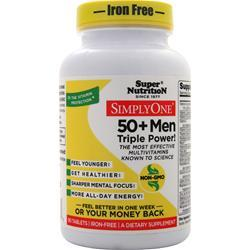 Super Nutrition Simply One 50+ Triple Power Multivitamins (Iron Free) 90 tabs