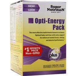 Super Nutrition Opti-Energy Pack 30 pckts
