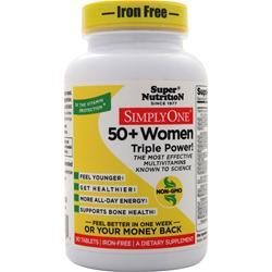 Super Nutrition Simply One 50+ Women - High Energy One-Per-Day (Iron Free) 90 tabs