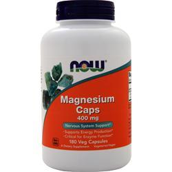 Now Magnesium Caps (400mg) 180 caps