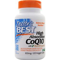 Doctor's Best High Absorption CoQ10 w/ Bioperine (100mg) 120 vcaps