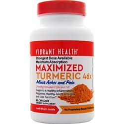 Vibrant Health Maximized Turmeric 46x  EXPIRES 10/17 60 caps