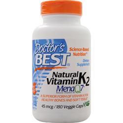 Doctor's Best Natural Vitamin K2 - MenaQ7 180 vcaps