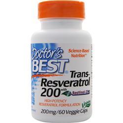 Doctor's Best Trans-Resveratrol 200 60 vcaps