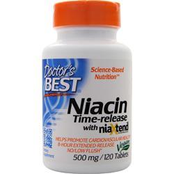 Doctor's Best Niacin Time-release with NiaXtend (500mg) 120 tabs