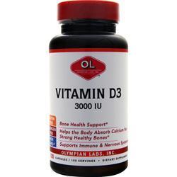 Olympian Labs Vitamin D3 (3000IU) 100 vcaps
