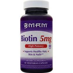 MRM Biotin (5mg) 60 vcaps