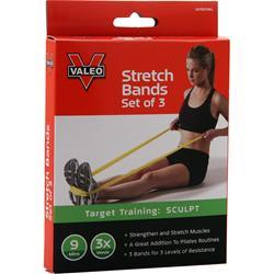 Valeo Stretch Bands 3 unit
