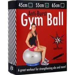 J-Fit Anti-Burst Gym Ball with Pump 55cm - Silver 1 ball