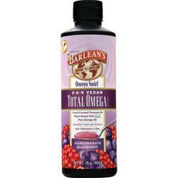 Barlean's Total Omega 3-6-9 Vegan Pomegranate Blueberry 16 fl.oz
