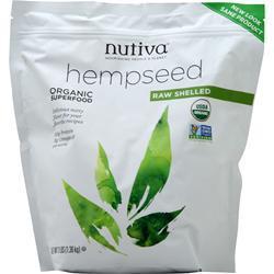 Nutiva Organic Hemp Seed Shelled 3 lbs