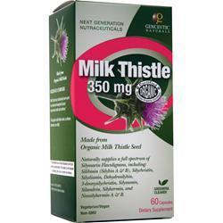 Genceutic Naturals Milk Thistle (350mg) 60 caps