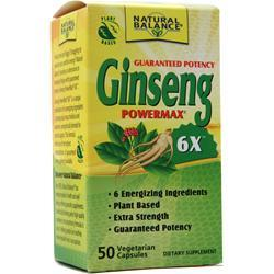 Natural Balance Ginseng Powermax 6X 50 caps