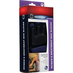 Harbinger Women's WristWrap Bag Glove Indigo (L) 2 glove