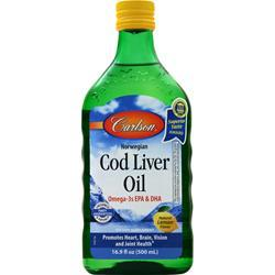Carlson Norwegian Cod Liver Oil Liquid Lemon 16.9 fl.oz