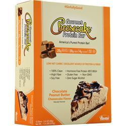 ANSI Gourmet Cheesecake Protein Bar Chocolate Peanut Butter 12 bars