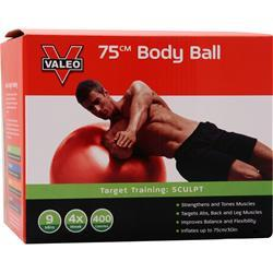 Valeo Body Ball 75 centimeters - Red 1 unit