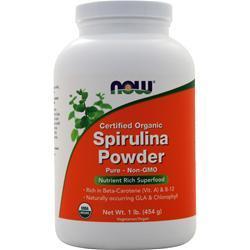 Now Spirulina Powder - Certified Organic 1 lbs