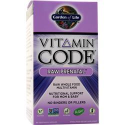 Garden Of Life Vitamin Code - Raw Prenatal 180 vcaps