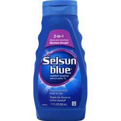 Chattem Selsun Blue Dandruff Shampoo - 2 in 1 11 oz