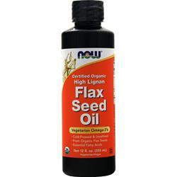 Now High Lignan Flax Seed Oil (Certified Organic) 12 fl.oz
