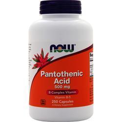 Now Pantothenic Acid 250 caps