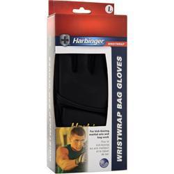 Harbinger WristWrap Bag Glove Black (L) 2 glove
