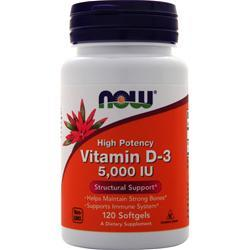 Now Vitamin D-3 (5000IU) 120 sgels