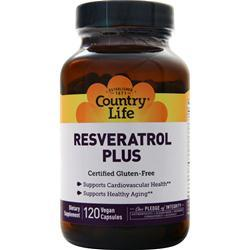 Country Life Resveratrol Plus 120 vcaps