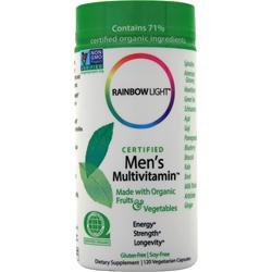 Rainbow Light Certified Organics - Men's Multivitamin 120 vcaps