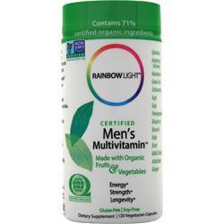 Rainbow Light Certified Organics - Men's Multivitamin 120 vcaps