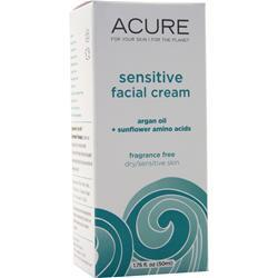 Acure Sensitive Facial Cream Unscented 1.75 fl.oz