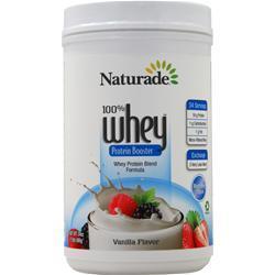 Naturade 100% Whey Protein Vanilla BEST BY 11/17 24 oz