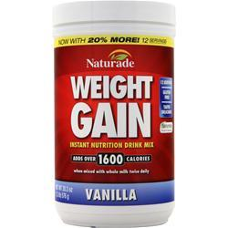 Naturade Weight Gain (No Sugar Added) Vanilla 16.93 oz