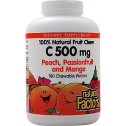 Natural Factors 100% Natural Fruit Chew C (500mg) Peach Passion & Mango 180 wafrs