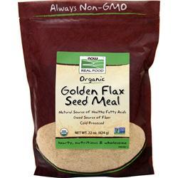 Now Flax Seed Meal - Certified Organic 22 oz