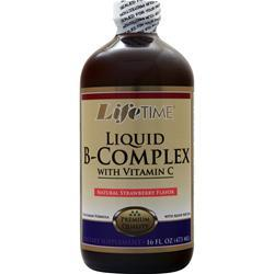 Lifetime Liquid B-Complex with Vitamin C Strawberry 16 fl.oz