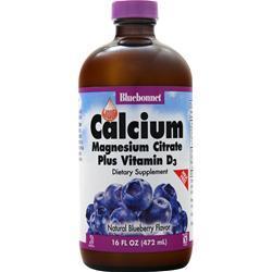 Bluebonnet Liquid Calcium Magnesium Citrate Plus Vitamin D3 Blueberry 16 fl.oz