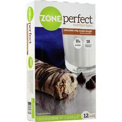Zone Perfect Nutrition Bar Choc. Chip Cookie Dough 12 bars