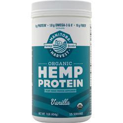 Manitoba Harvest Certified Organic Hemp Protein Vanilla 16 oz