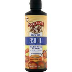 Barlean's Omega Swirl Fish Oil Mango Peach 16 fl.oz