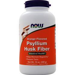 Now Psyllium Husk Fiber Orange 12 oz