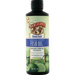 Barlean's Omega Swirl Fish Oil - Ultra High Potency Key Lime 16 fl.oz