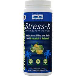 Trace Minerals Research Stress-X Magnesium Powder (350mg) Lemon Lime 23.3 oz