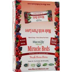 Macrolife Naturals Miracle Reds Food Bar Berri-Berri 12 bars