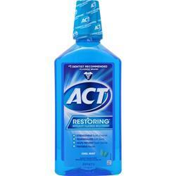 Chattem ACT Restoring Anticavity Flouride Mouthwash Cool Splash Mint 33.8 fl.oz