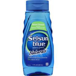 Chattem Selsun Blue Naturals Dandruff Shampoo Island Breeze 11 oz