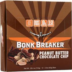 Bonk Breaker The World's Best Energy Bar Peanut Butter & Chocolate 12 bars