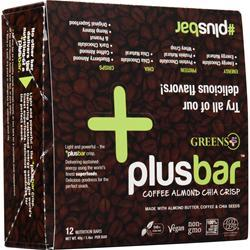 Greens Plus Dark Chocolate Bar Almond & Coffee Crisp 12 bars